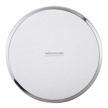 """Bezdrátová nabíjecí stanice """"Magic Disc"""" pro všechna mobilní zařízení podporující QI - bílá"""
