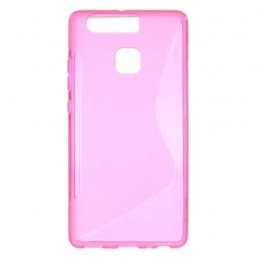 """TPU gelový obal """"S-Line"""" Huawei P9 - růžový"""
