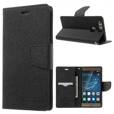 Pouzdro Goospery Fancy Diary pro Huawei P9 - černé