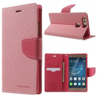 Pouzdro Goospery Fancy Diary pro Huawei P9 - růžové