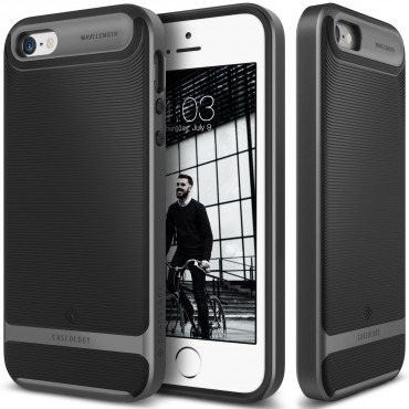 Kryt Caseology Wavelength Series New pro iPhone SE / 5 / 5S - black