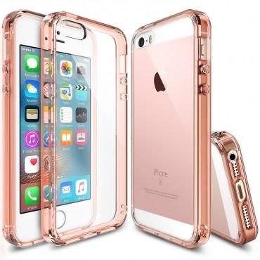"""Obal Ringke """"Fusion"""" pro iPhone SE / 5 / 5S - růžovo zlatě průhledný"""