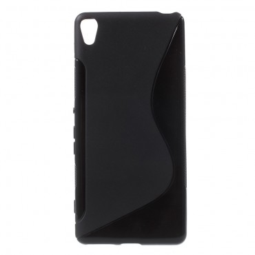 "Kryt TPU gel ""S-Line"" pro Sony Xperia XA - černý"