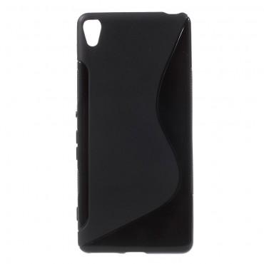 """TPU gelový obal """"S-Line"""" Sony Xperia XA - černý"""