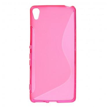 """Kryt TPU gel """"S-Line"""" pro Sony Xperia XA - růžový"""