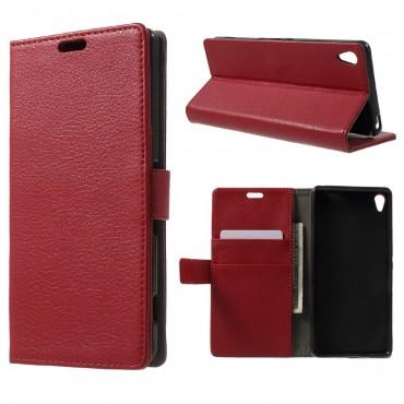 "Elegantní pouzdro ""Litchi"" pro Sony Xperia XA - červené"