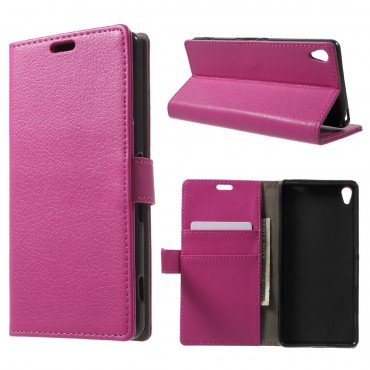 "Elegantní pouzdro ""Litchi"" pro Sony Xperia XA - růžové"