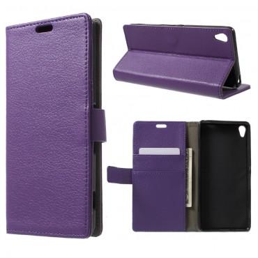 """Elegantní kryt """"Litchi"""" pro Sony Xperia XA - fialový"""