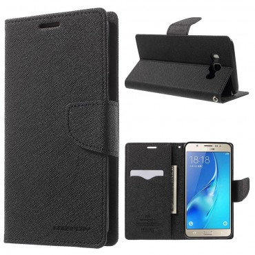 Pouzdro Goospery Fancy Diary pro Samsung Galaxy J7 (2016) - černé