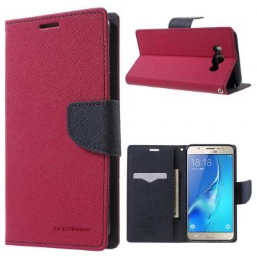 Pouzdro Goospery Fancy Diary pro Samsung Galaxy J7 2016 - magenta