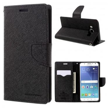 Pouzdro Goospery Fancy Diary pro Samsung Galaxy J5 2016 - černé