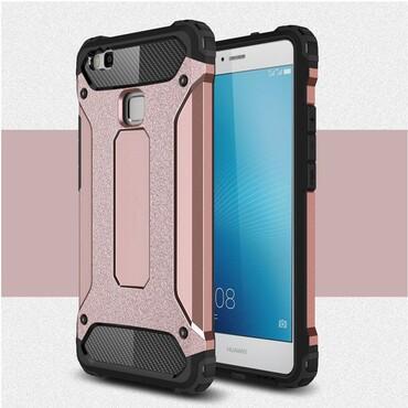 """Robustní obal """"Rock"""" pro Huawei P9 Lite - růžový"""