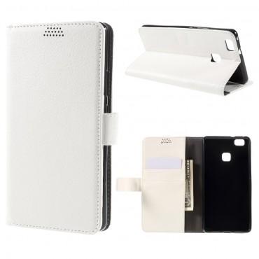 """Elegantní pouzdro """"Litchi"""" pro Huawei P9 Lite - bílé"""