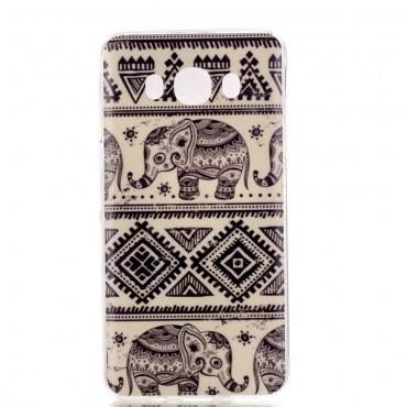 "Kryt TPU gel ""Tribal Elephant"" pro Samsung Galaxy J7 2016"