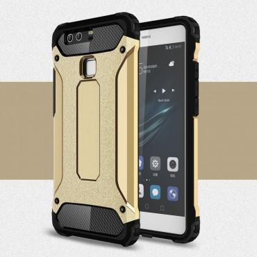 """Robustní obal """"Rock"""" pro Huawei P9 - zlaté barvy"""