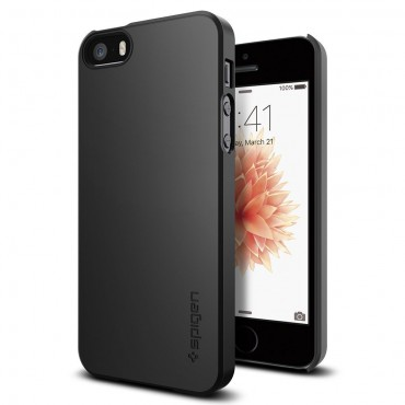 "Kryt Spigen ""Thin Fit"" pro iPhone SE / 5 / 5S - black"