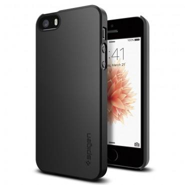 """Obal Spigen """"Thin Fit"""" pro iPhone SE / 5 / 5S - černý"""