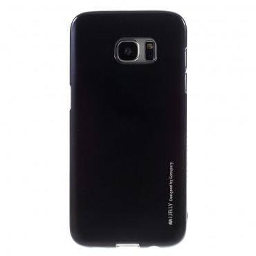 Kryt TPU gel Goospery iJelly Case pro Samsung Galaxy S7 Edge - černé