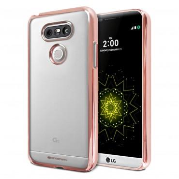 Mimořádně tenký kryt Goospery Ring pro LG G5 – růžové
