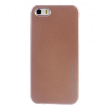 Kryt TPU gel Goospery iJelly Case pro iPhone SE / 5 / 5S - růžový