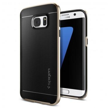 """Kryt Spigen """"Neo Hybrid"""" pro Samsung Galaxy S7 Edge - champagne gold"""
