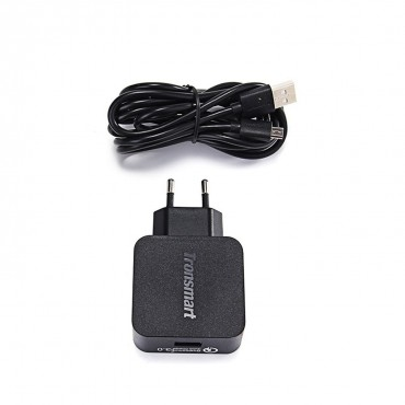 Prémiová nabíječka Tronsmart Quick Charge 3.0 s microUSB kabelem