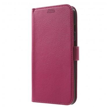 """Elegantní pouzdro """"Litchi"""" pro iPhone 8 Plus / iPhone 7 Plus - růžové"""