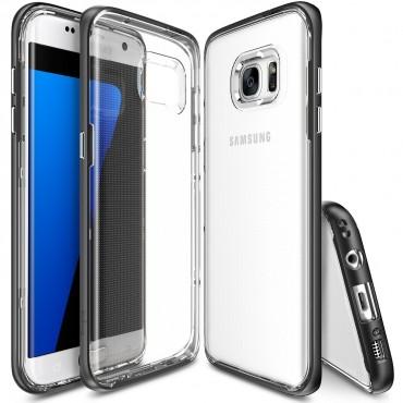 "Obal Ringke ""Frame"" pro Samsung Galaxy S7 Edge - tmavě černý"
