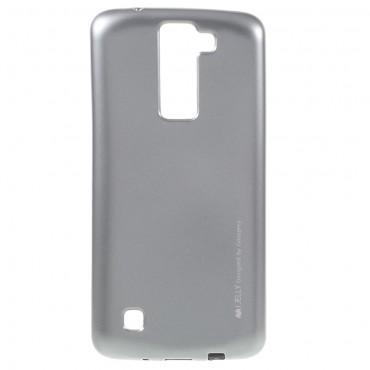 Kryt TPU gel Goospery iJelly Case LG K8 - stříbrné barvy