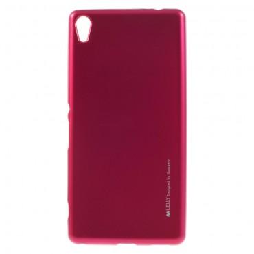 Kryt TPU gel Goospery iJelly Case pro Sony Xperia XA - magenta
