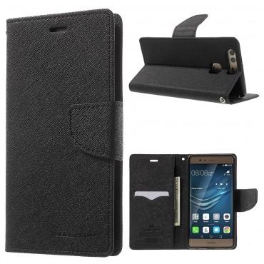 Pouzdro Goospery Fancy Diary pro Huawei P9 Lite - černé