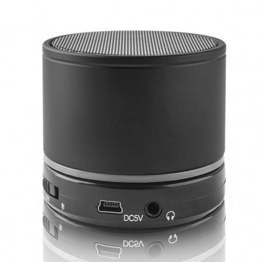 """Kovový Bluetooth reproduktor """"SoundPal 2"""" s mikrofonem - černý"""