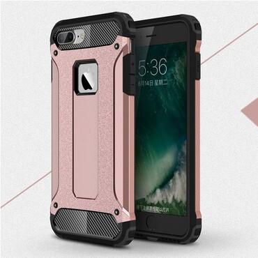 """Robustní kryt """"Rock"""" pro iPhone 8 / iPhone 7 - růžové"""