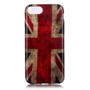 "TPU gelový obal ""Retro UK"" pro iPhone 8 / iPhone 7"