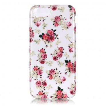 """Kryt TPU gel """"Wild Peonies"""" pro iPhone 8 / iPhone 7"""