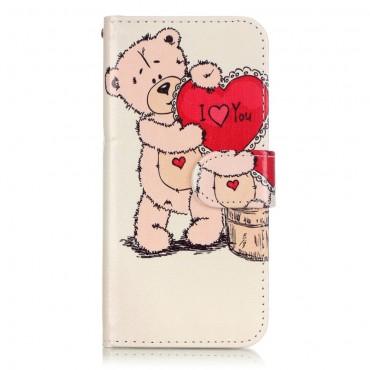 "Módní pouzdro ""Bear Heart"" pro iPhone 8 / iPhone 7"