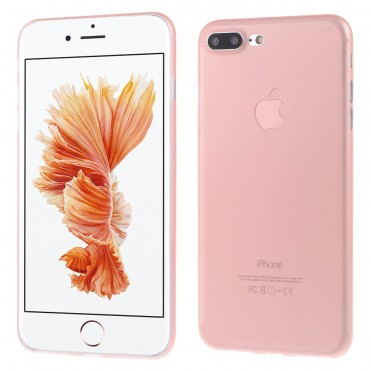 Ultra tenký 0,3mm tvrdý obal pro iPhone 7 Plus - růžová