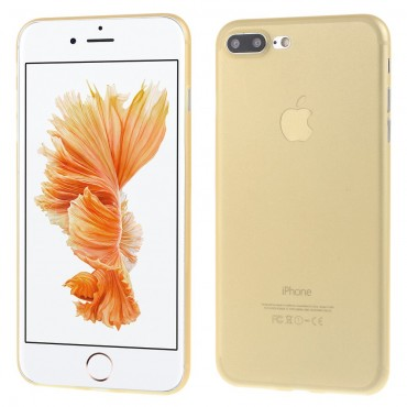Ultra tenký 0,3mm tvrdý obal pro iPhone 7 Plus - zlaté barvy