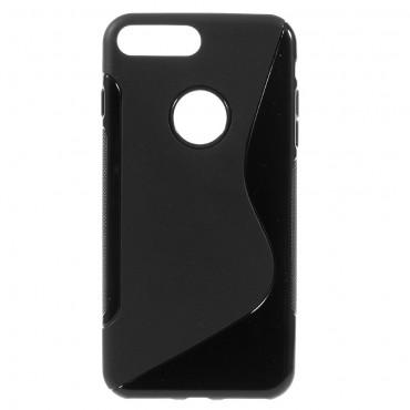 "TPU gelový obal ""S-Line"" iPhone 7 Plus - černý"