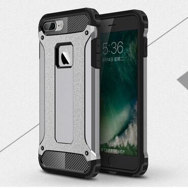 """Robustní obal """"Rock"""" pro iPhone 7 Plus - šedý"""