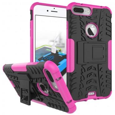 """Robustní TPU obal """"Tough"""" pro iPhone 7 Plus - růžový"""