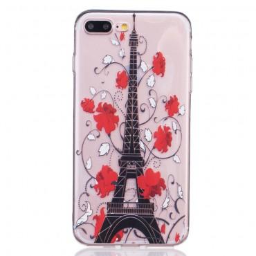 """Módní TPU gelový obal """"Eiffel Flower"""" pro iPhone 8 Plus / iPhone 7 Plus"""