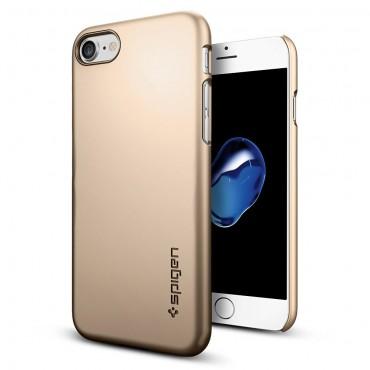 """Obal Spigen """"Thin Fit"""" pro iPhone 7 - šampaňská zlatá"""