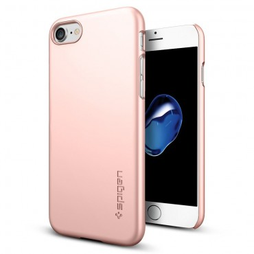 """Obal Spigen """"Thin Fit"""" pro iPhone 7 - růžově zlatý"""