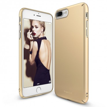 "Obal Ringke ""Slim"" pro iPhone 8 Plus / iPhone 7 Plus - královsky zlatý"