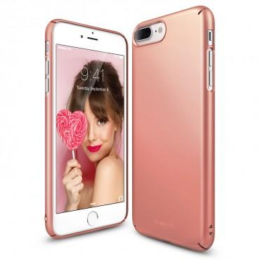 "Obal Ringke ""Slim"" pro iPhone 8 Plus / iPhone 7 Plus - růžově černý"