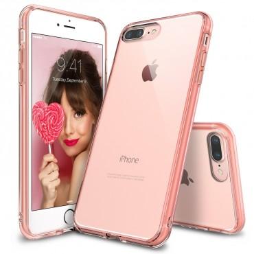 """Obal Ringke """"Fusion"""" pro iPhone 8 Plus / iPhone 7 Plus - růžově zlatý průhledný"""