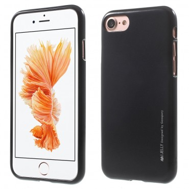 TPU gelový obal Goospery iJelly Case pro iPhone 8 / iPhone 7 - černý