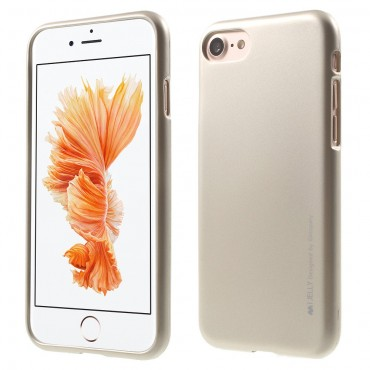 Kryt TPU gel Goospery iJelly Case pro iPhone 8 / iPhone 7 - zlatý