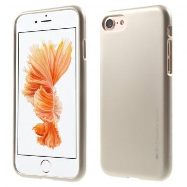 TPU gelový obal Goospery iJelly Case pro iPhone 8 / iPhone 7 - zlaté barvy